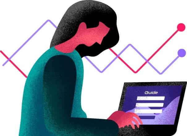 Mulher investindo pelo computador